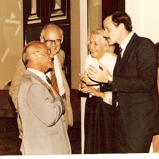 A. Chafuen with Milton Friedman