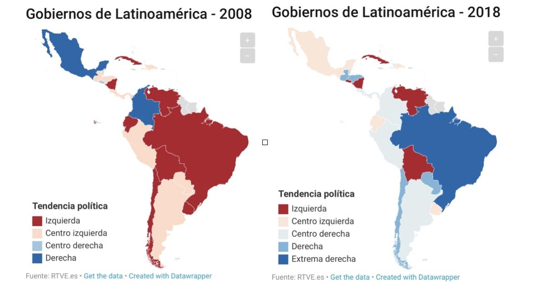 América del Sur, mapa político