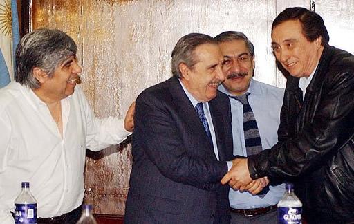 Moyano, Daer, Alfonsín y Saúl Ubaldini