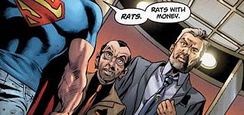 "Superman: ""Rats With Money"" (c) DC Comics"