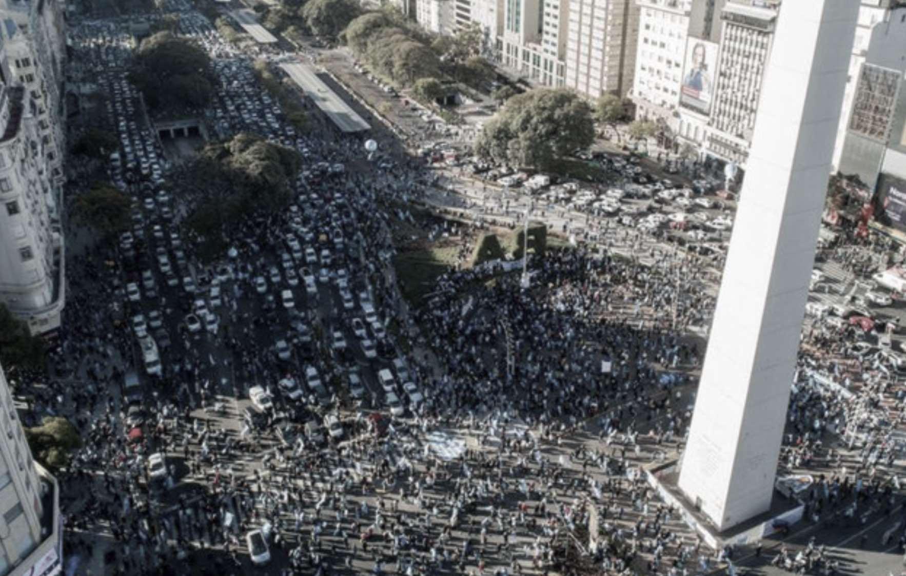Marchas contra Alberto Fernández en Argentina