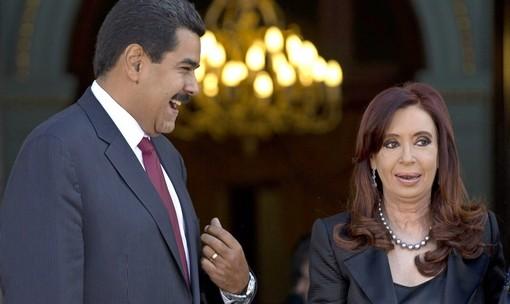 Cristina y Maduro, risas