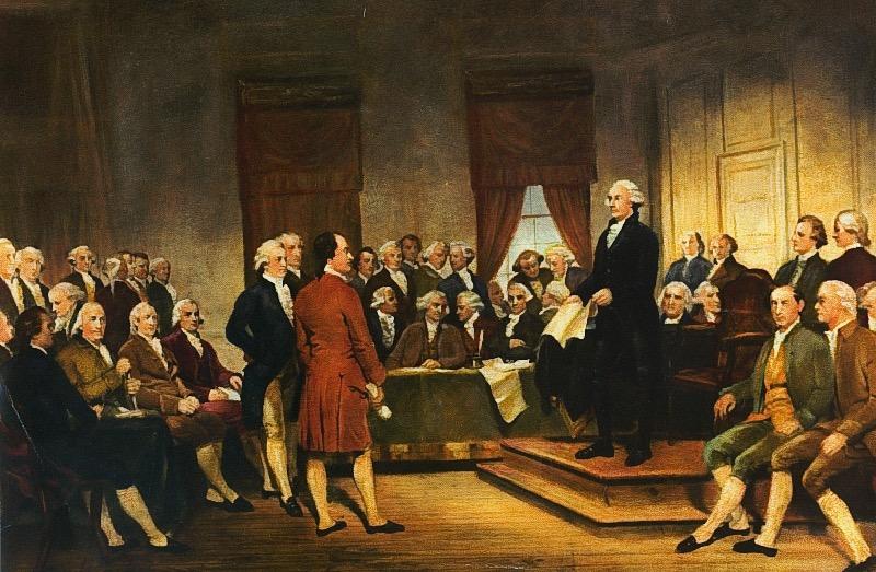 George Washington, Constitución de los Estados Unidos
