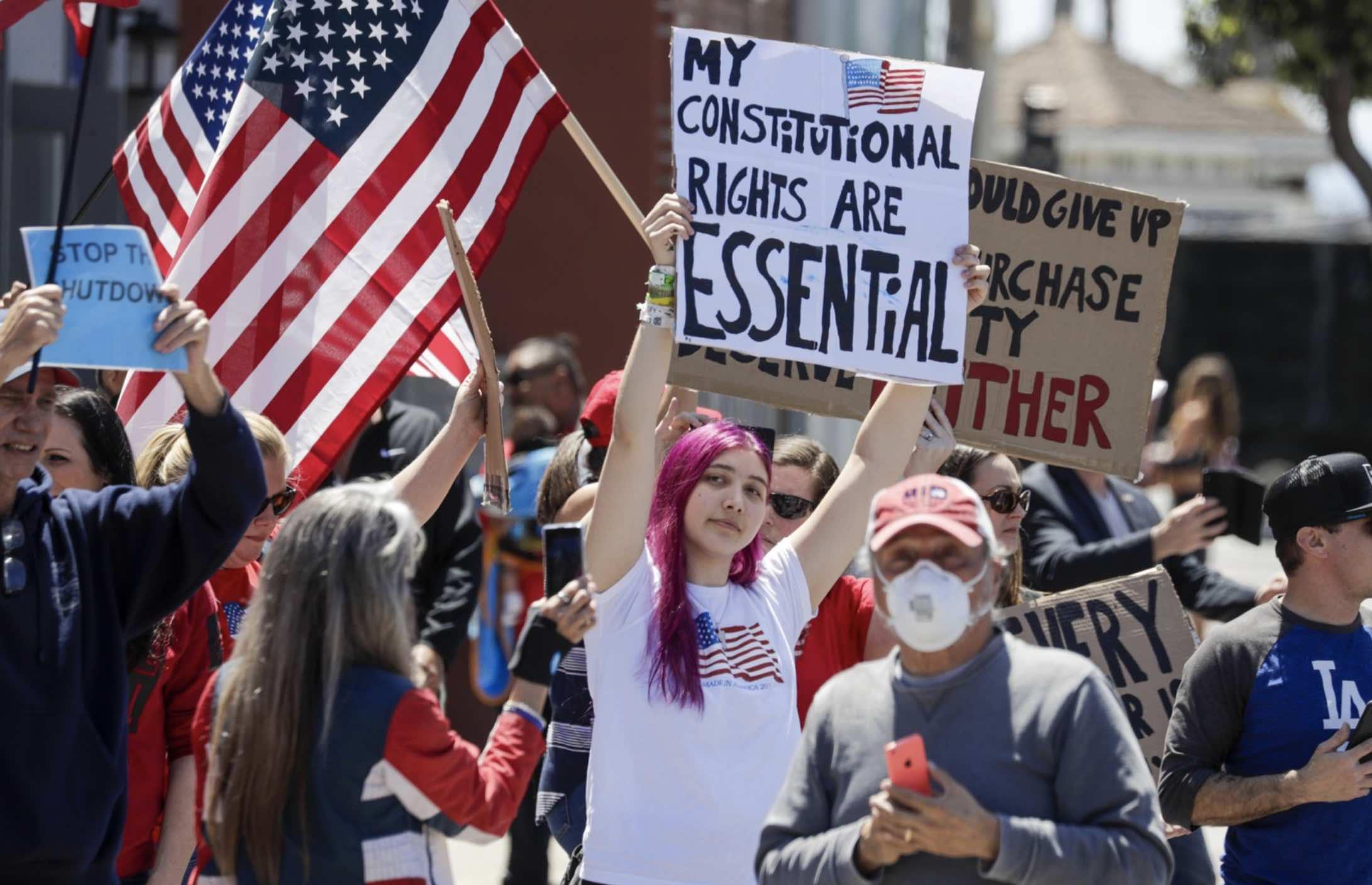 Marchas anticuarentena en Estados Unidos, Lockdown