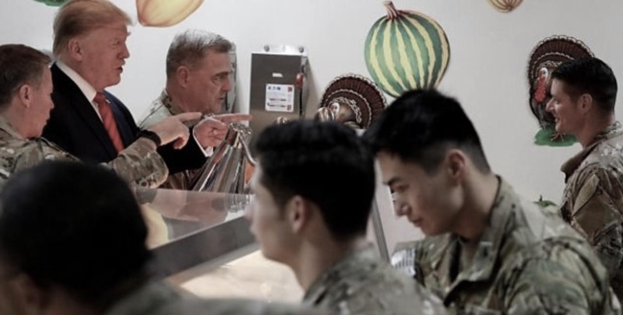 Donald Trump en Afganistán, Acción de Gracias, Thanksgiving