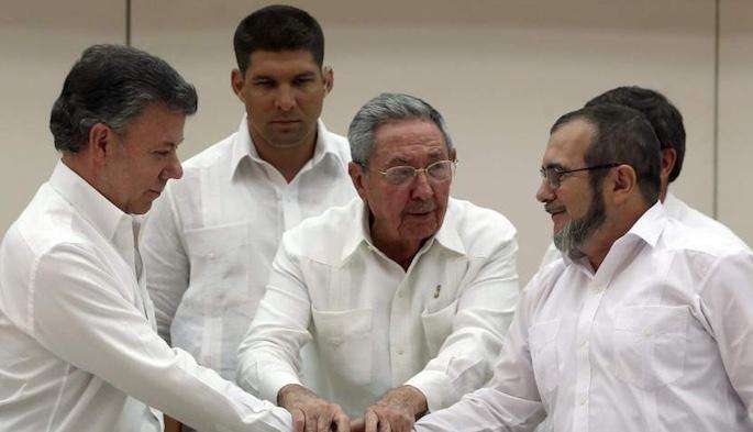 Acuerdo de paz, FARC, narcoguerrilla, Colombia, Santos, Cuba