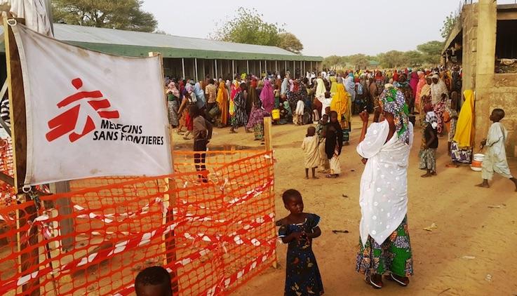 Nigeria, MSF camp