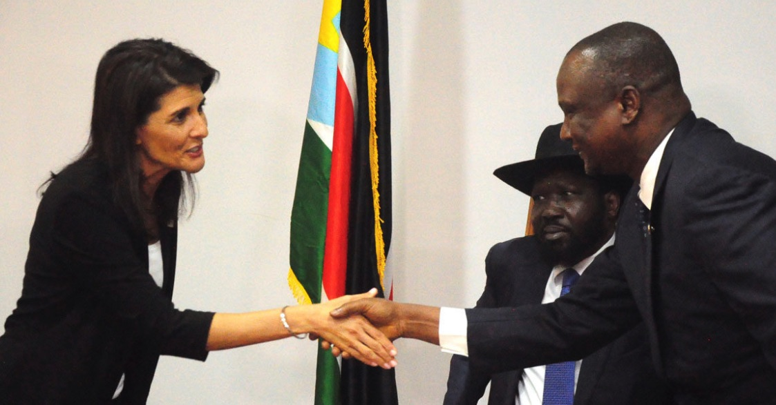 Nikki Haley, Salva Kiir