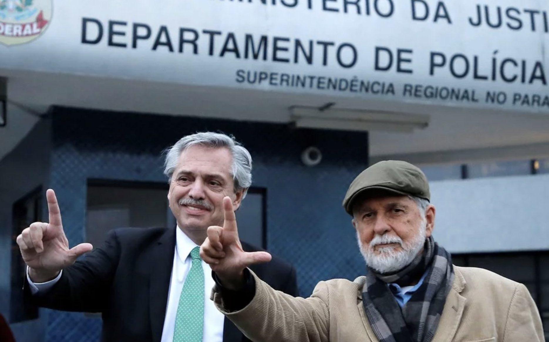 Alberto Fernández y Celso Amorim, LulaLivre