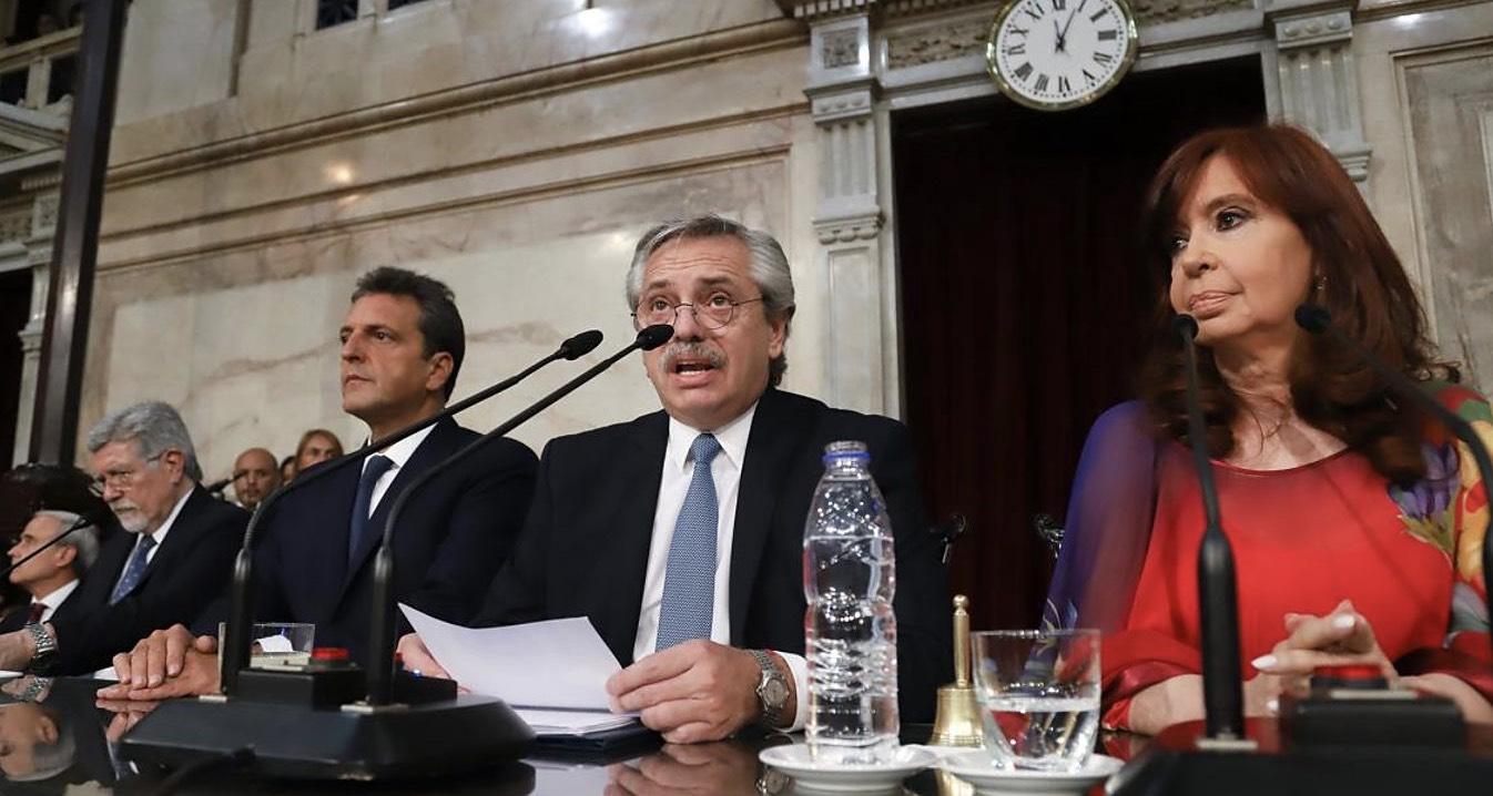 Alberto Fernández, Sergio Massa, Cristina Kirchner