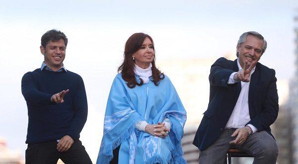 Alberto Fernández, Cristina Kirchner, Axel Kicillof