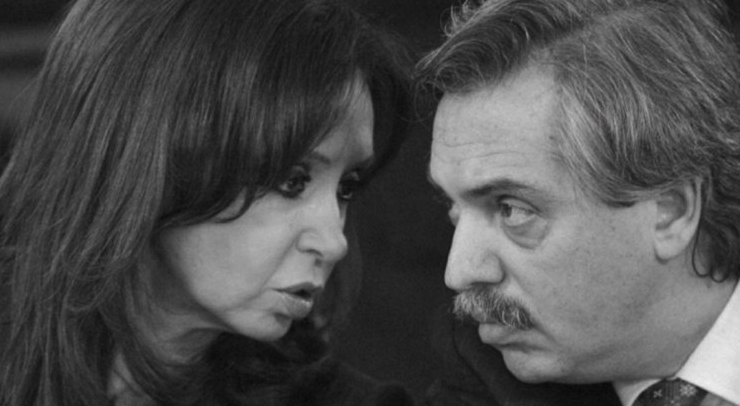 Cristina Fernández y Alberto Fernández