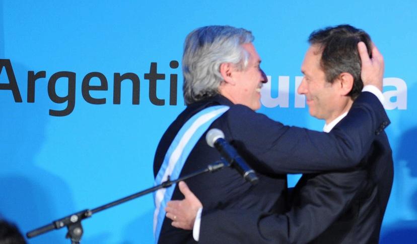 Alberto Fernández y Gustavo Béliz