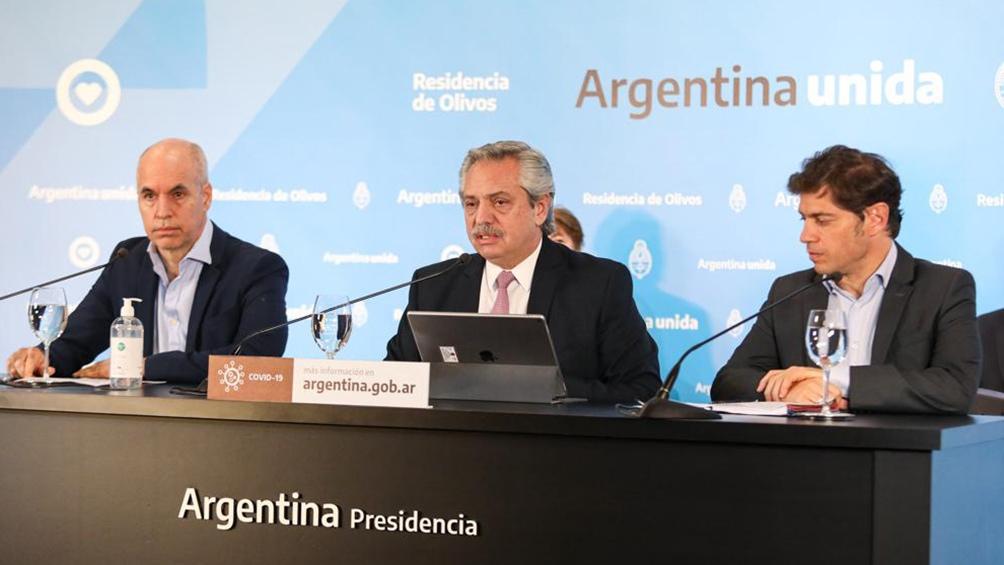 Fernández, Larreta, Kicillof