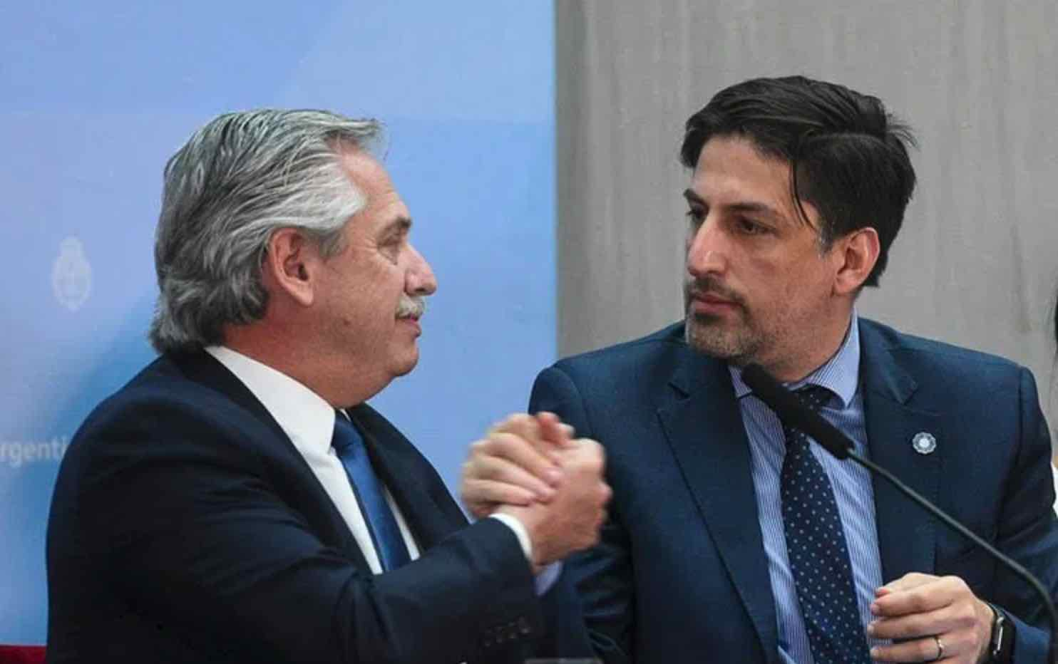 Nicolás Trotta y Alberto Fernández