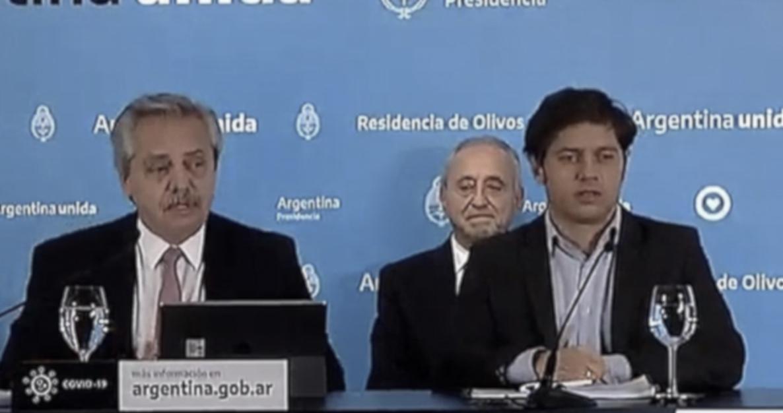 Alberto Fernández, Pedro Cahn, Axel Kicillof