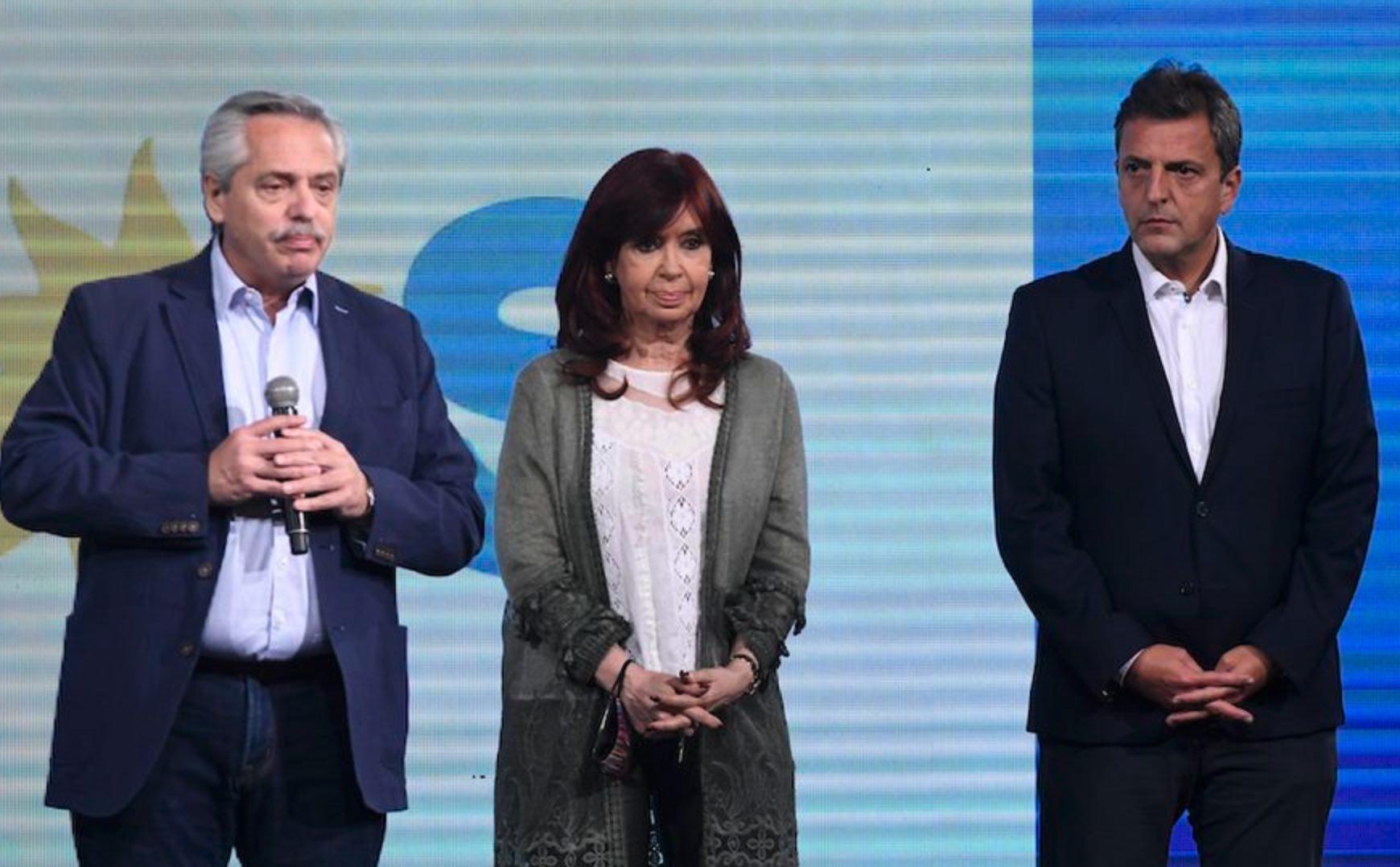 Cristina, Alberto, Sergio Massa