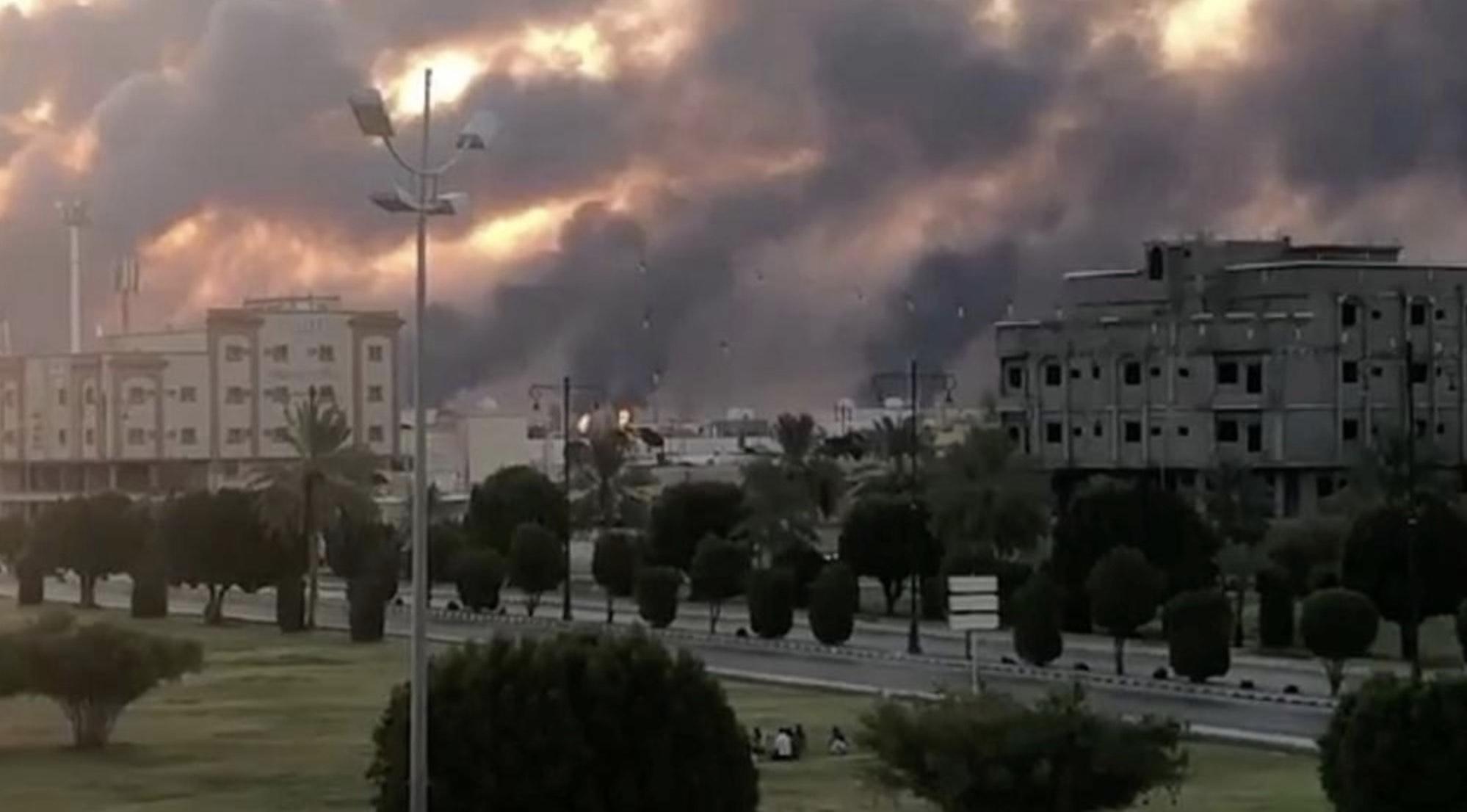 Arabia Saudita, Ataque con drones contra instalaciones de Aramco