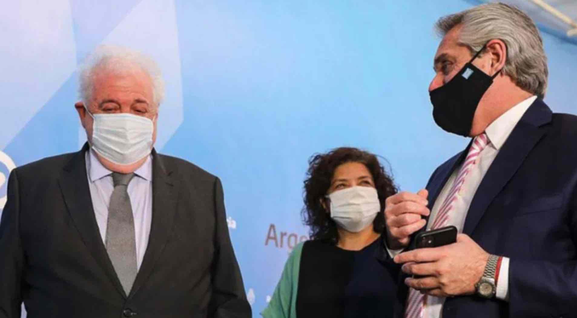 Carla Vizzotti, Alberto Fernández, Ginés González García