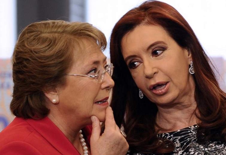 Bachelet y CFK