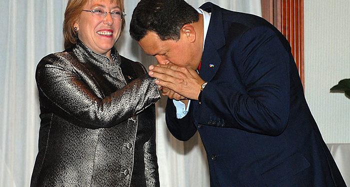Bachelet y Chávez