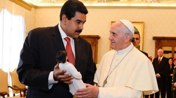 Francisco y Nicolás Maduro