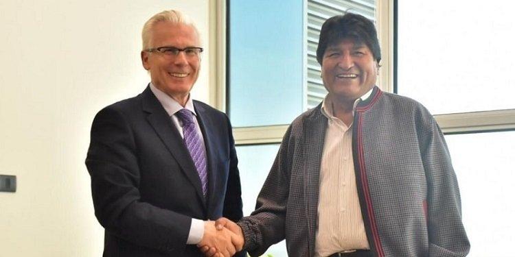 Baltasar Garzón y Evo Morales
