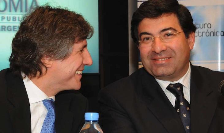 Echegaray y Amado Boudou