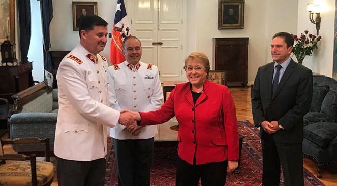 Martínez Menanteau y Michelle Bachelet