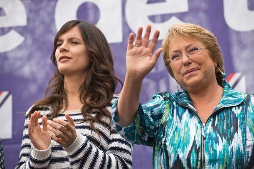 Michelle Bachelet y Camlia Vallejo