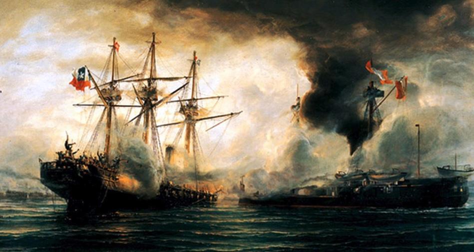 Combate naval de Iquique, Chile, Guerra del Pacífico