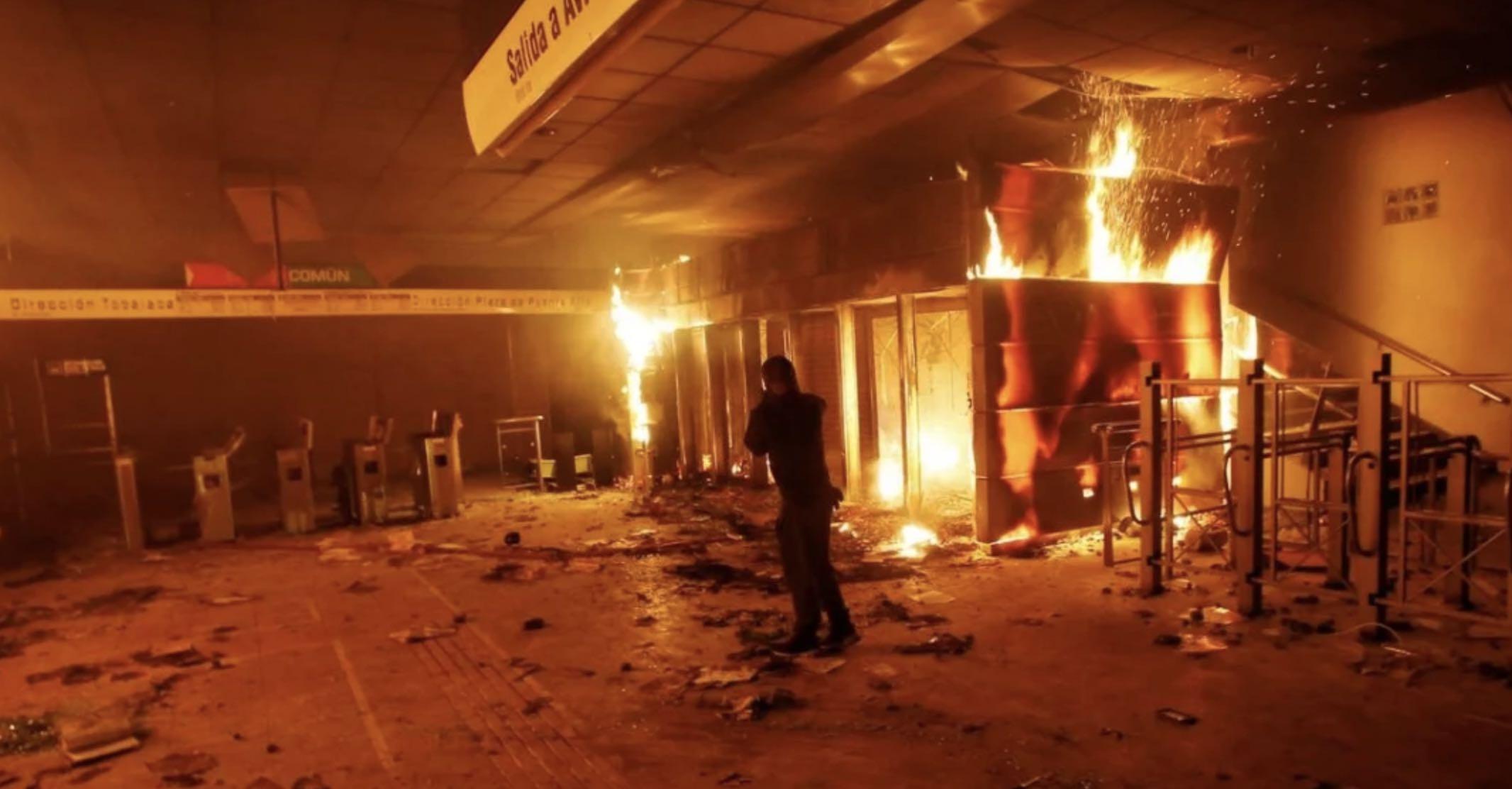 Izquierda latinoamericana, Saqueos, Grupo de Puebla, Chile, Colombia, Terrorismo