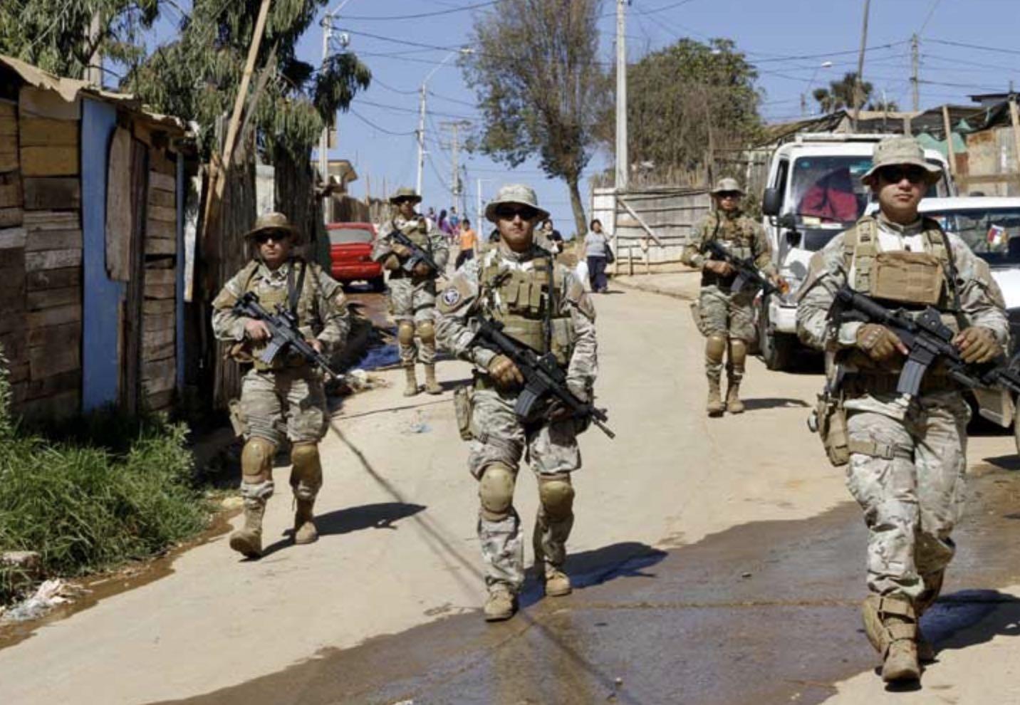 Chile, Estado de Excepción, Ejército