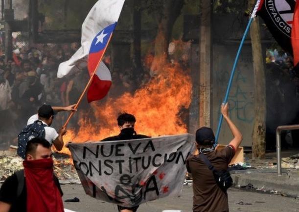 Chile, nueva constitución, Violencia, agitación, Golpe de Estado blando