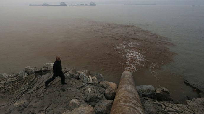 Contaminación del agua en China