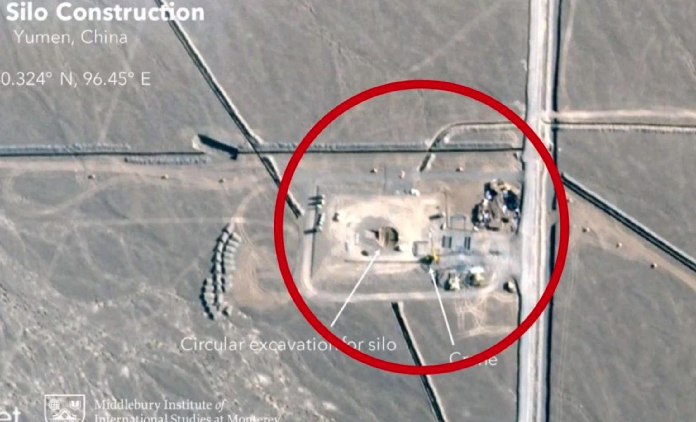 China, Nuevos silos para misiles balísticos intercontinentales