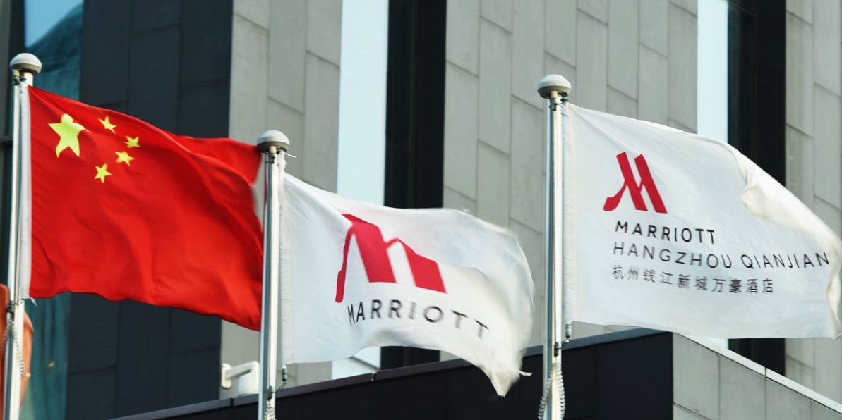 Marriott, China, Taiwan, Banderas