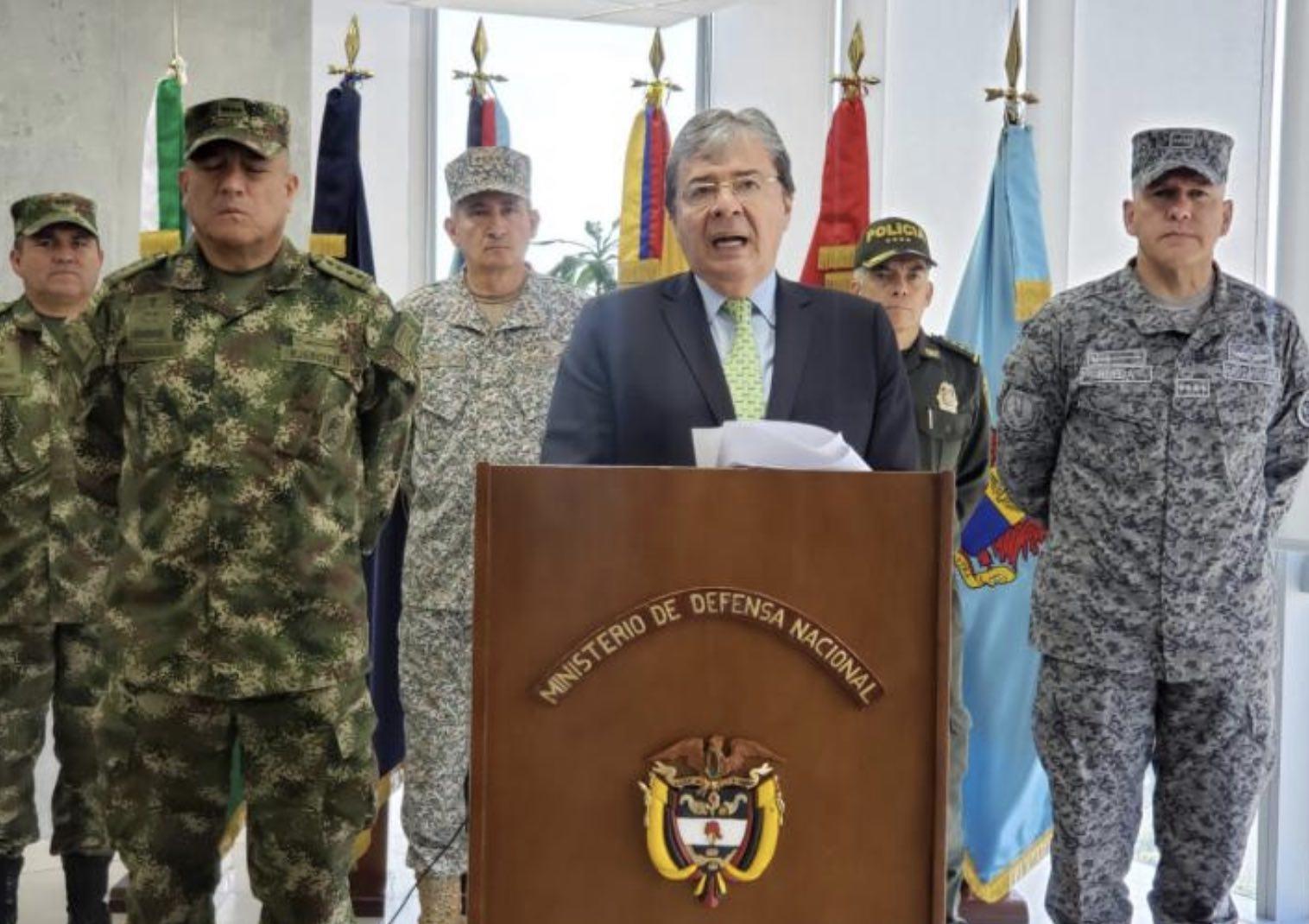 Coronavirus y fuerzas armadas, Colombia
