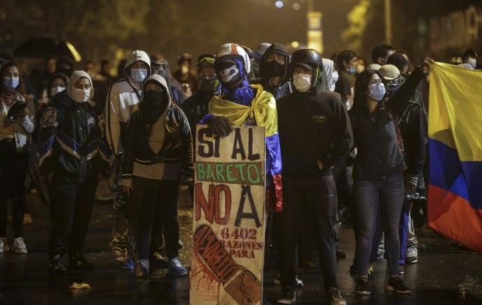 Violencia en Colombia, Desestabilización de Iván Duque, Bogotá