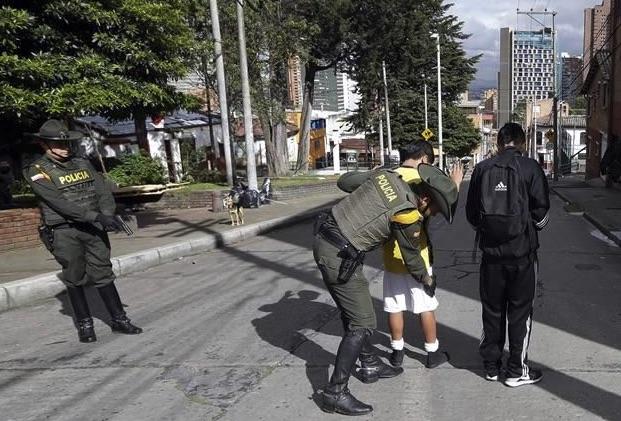 Operativo de seguridad, Armenia, Colombia
