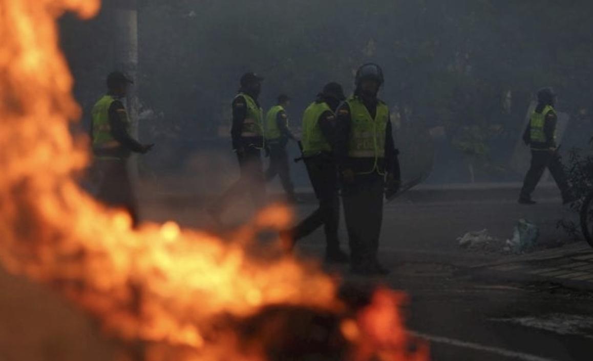 Violencia en Colombia, Paro nacional, 21 de noviembre