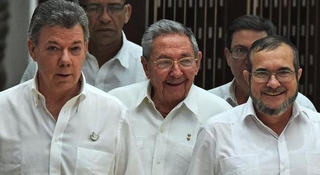 Juan Manuel Santos y narcotraficantes Raúl Castro, La Habana, Cuba, Colombia infiltrada