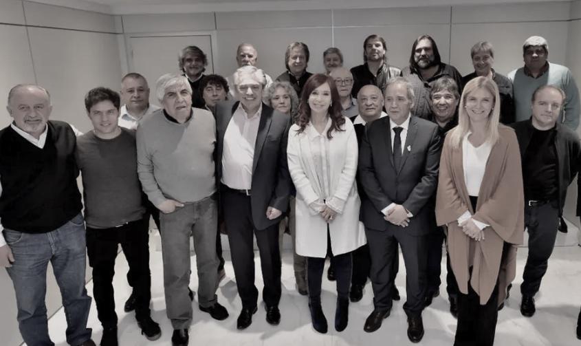 Cristina con gremios; Baradel, Moyano, Magario, Crimen organizado, Unidad Ciudadana
