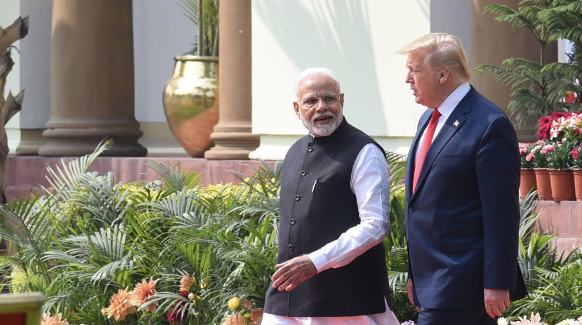 Narendra Modi y Donald Trump, India y Estados Unidos
