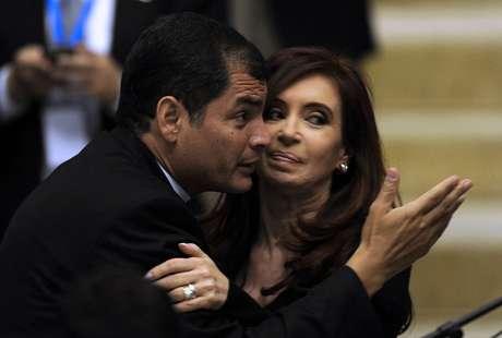 Ecuador, Rafael Correa, Cristina Kirchner