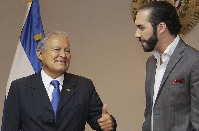 Sánchez Cerén y Nayib Bukele