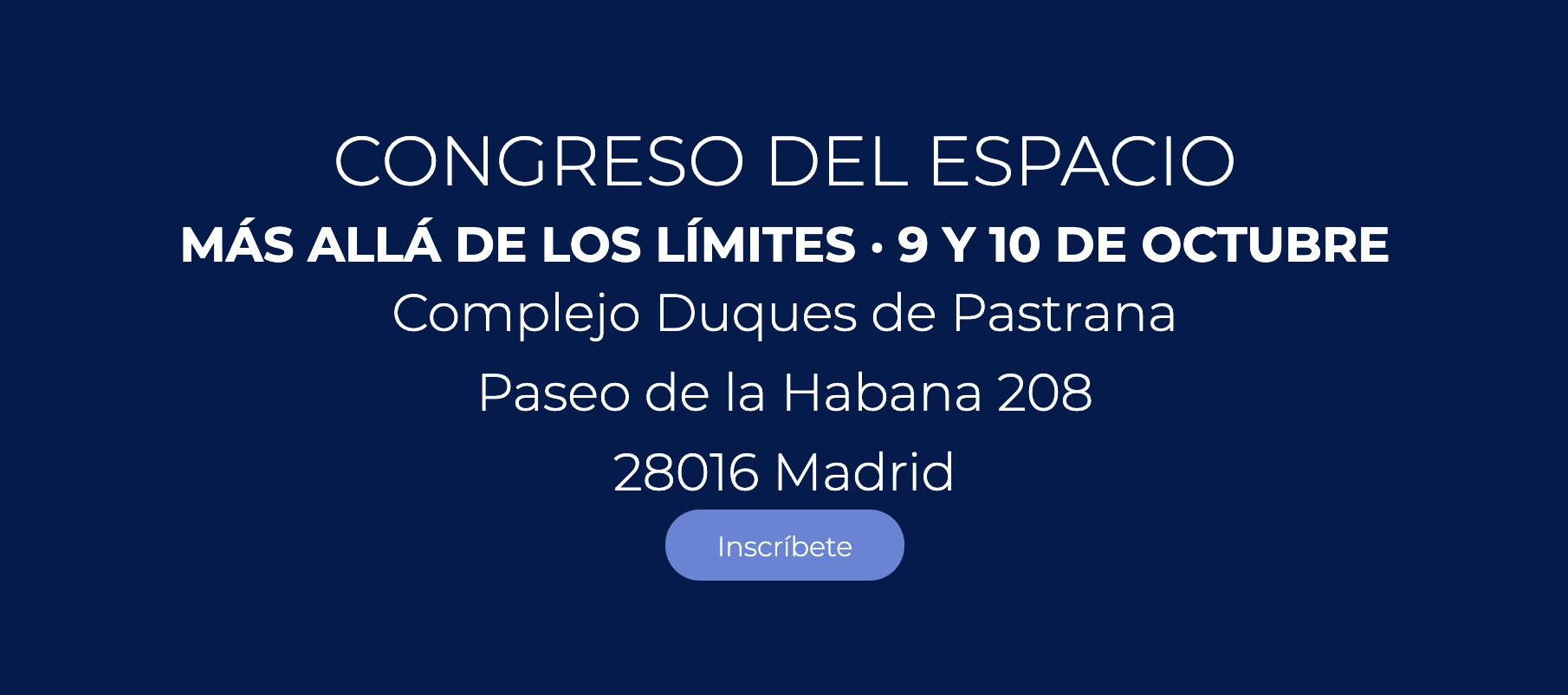 Congreso del Espacio, Madrid, España