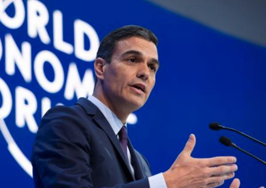 Pedro Sánchez en el Foro Económico Mundial de Davos