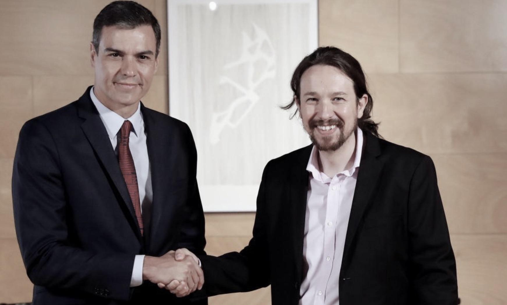 España, Pedro Sánchez y Pablo Iglesias, Unidas Podemos, Pandemia, Cuarentena