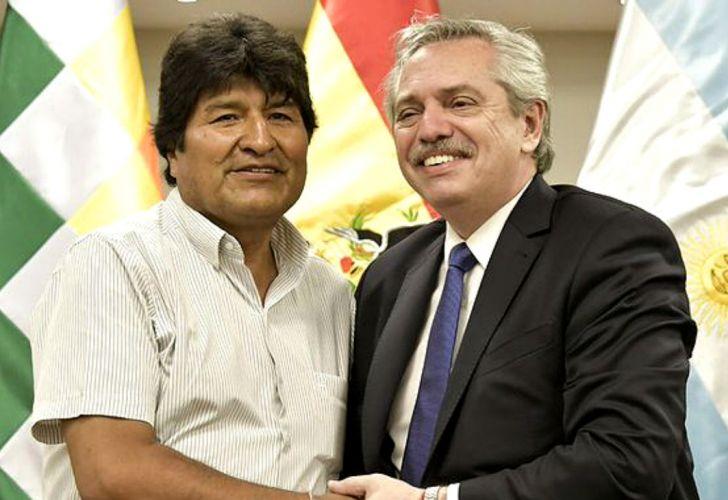 Evo Morales, Alberto Fernández